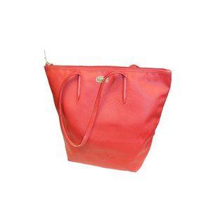 Lacoste Red Horizontal Shoulder Tote Bag Purse